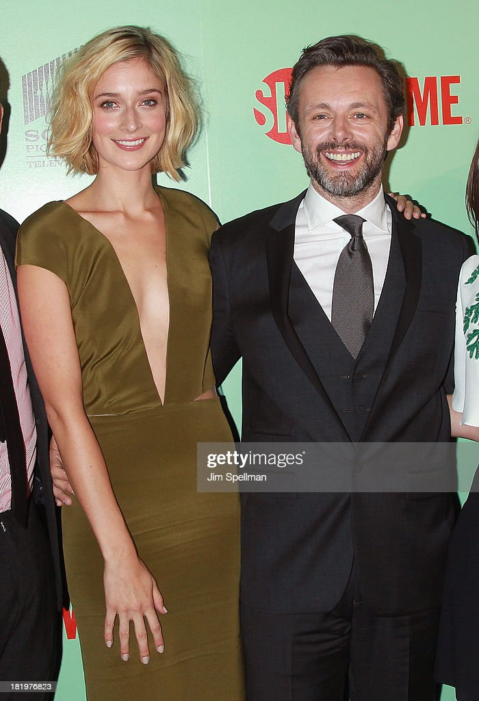 Actors Caitlin Fitzgerald and <a gi-track='captionPersonalityLinkClicked' href=/galleries/search?phrase=Michael+Sheen&family=editorial&specificpeople=213120 ng-click='$event.stopPropagation()'>Michael Sheen</a> attend 'Masters Of Sex' New York Series Premiere at The Morgan Library & Museum on September 26, 2013 in New York City.