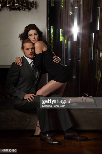 Actors Caitriona Balfe and Sam Heughan are photographed for Emmy Magazine on February 4 2015 in Los Angeles California