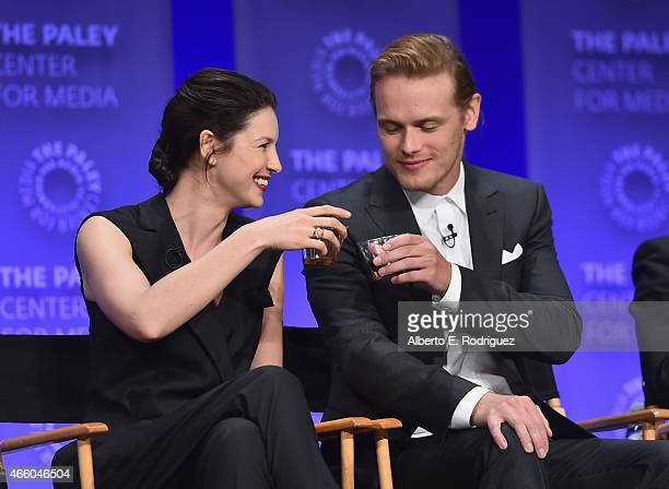 Actors Caitriona Balfe and Sam Heughan attend The Paley Center for Media's 32nd Annual PALEYFEST LA 'Outlander' at Dolby Theatre on March 12 2015 in...