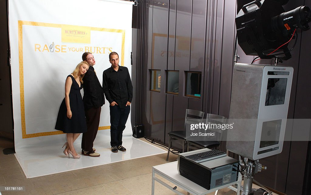 Actors Caleb Landry Jones, Sarah Gadon and director/writer Brandon Cronenberg attend the Variety Studio Presented By Moroccanoil during the Toronto International Film Festival at Holt Renfrew at Holt Renfrew, Toronto on September 11, 2012 in Toronto, Canada.