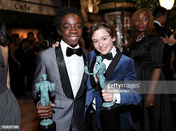 Actors Caleb McLaughlin and Noah Schnapp attend People And EIF's Annual Screen Actors Guild Awards Gala at The Shrine Auditorium on January 29 2017...