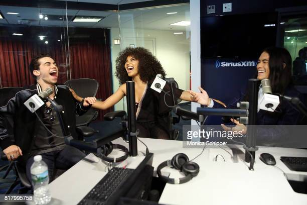Actors Cameron Boyce China Anne McClain and Booboo Stewart visit SiriusXM Studios on July 18 2017 in New York City