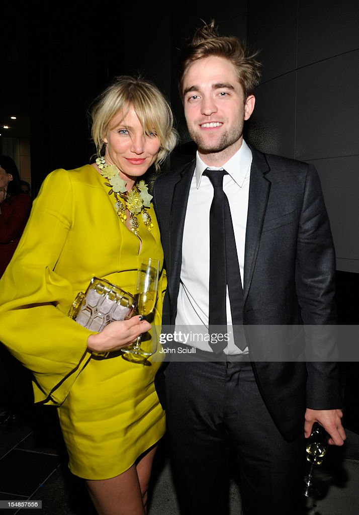 Actors Cameron Diaz and Robert Pattinson attend LACMA 2012 Art + Film Gala Honoring Ed Ruscha and Stanley Kubrick presented by Gucci at LACMA on October 27, 2012 in Los Angeles, California.
