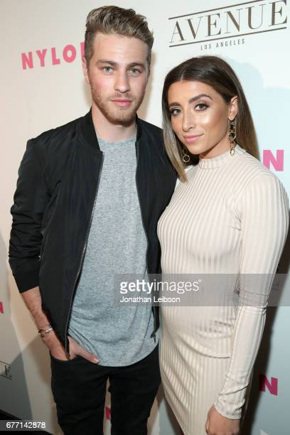 Actors Cameron Fuller and Lauren Elizabeth at the NYLON Young Hollywood Party at AVENUE Los Angeles on May 2 2017 in Los Angeles California