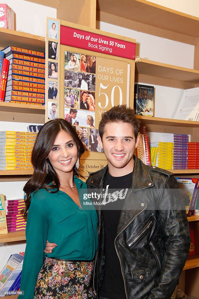 Actors Camila Banus and Casey Moss attend the Days Of Our Lives Book Signing at the Changing Hands Book Store on October 26 2015 in Tempe Arizona