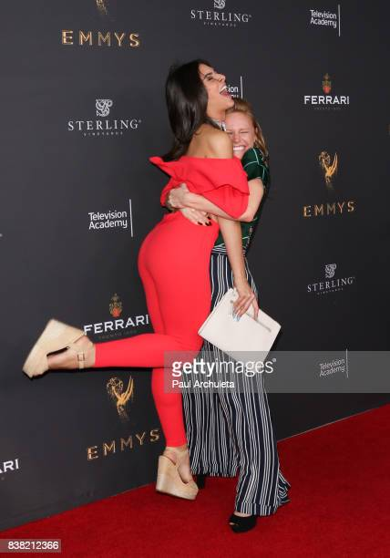 Actors Camila Banus and Marci Miller attend the Television Academy's cocktail reception with the Stars of Daytime Television celebrating The 69th...