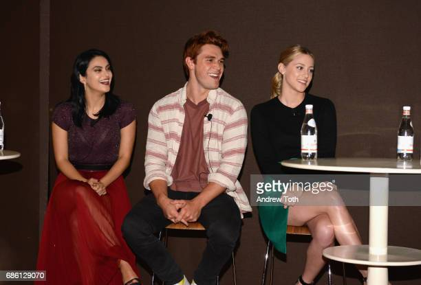 Actors Camila Mendes KJ Apa and Lili Reinhart of Riverdale series are interviewed by Angelica Bastien at the Vulture Festival at The Standard High...