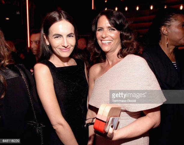 Actors Camilla Belle and Amy Landecker attend the tenth annual Women in Film PreOscar Cocktail Party presented by Max Mara and BMW at Nightingale...