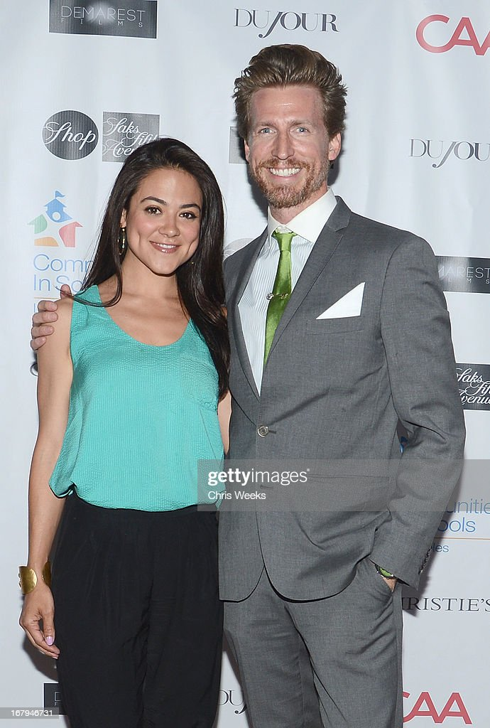 Actors <a gi-track='captionPersonalityLinkClicked' href=/galleries/search?phrase=Camille+Guaty&family=editorial&specificpeople=665118 ng-click='$event.stopPropagation()'>Camille Guaty</a> and <a gi-track='captionPersonalityLinkClicked' href=/galleries/search?phrase=Josh+Meyers+-+Actor&family=editorial&specificpeople=12906216 ng-click='$event.stopPropagation()'>Josh Meyers</a> attend the Communities In Schools 'School Life' Gala at a Private Residence on May 2, 2013 in Beverly Hills, California.
