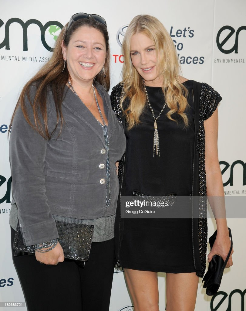 Actors <a gi-track='captionPersonalityLinkClicked' href=/galleries/search?phrase=Camryn+Manheim&family=editorial&specificpeople=204200 ng-click='$event.stopPropagation()'>Camryn Manheim</a> and <a gi-track='captionPersonalityLinkClicked' href=/galleries/search?phrase=Daryl+Hannah&family=editorial&specificpeople=201860 ng-click='$event.stopPropagation()'>Daryl Hannah</a> arrive at the 2013 Environmental Media Awards at Warner Bros. Studios on October 19, 2013 in Burbank, California.