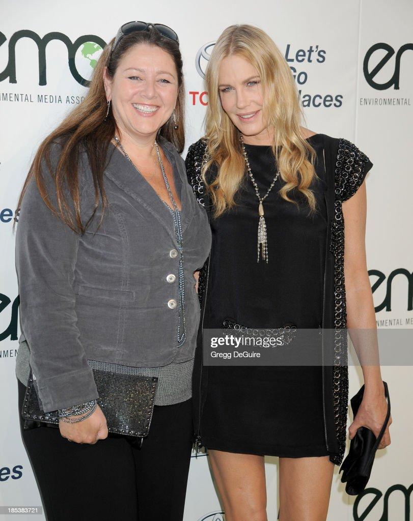 Actors Camryn Manheim and Daryl Hannah arrive at the 2013 Environmental Media Awards at Warner Bros. Studios on October 19, 2013 in Burbank, California.
