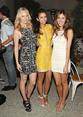 Actors Candice Accola Nina Dobrev andKayla Ewell attend Cosmopolitan's Summer Bash at Palihouse on August 10 2013 in West Hollywood California