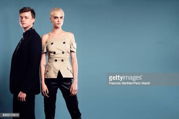 Actors Cara Delevingne and Dane Dehaan are photographed for Paris Match on July 4 2017 in Paris France