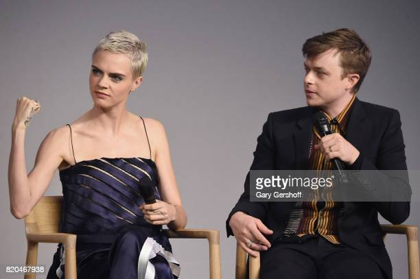 Actors Cara Delevingne and Dane DeHaan attend Apple Store Soho Presents Perspectives 'Valerian and the City of a Thousand Planets' at Apple Store...