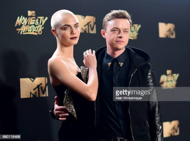 Actors Cara Delevingne and Dane DeHaan attend the 2017 MTV Movie And TV Awards at The Shrine Auditorium on May 7 2017 in Los Angeles California
