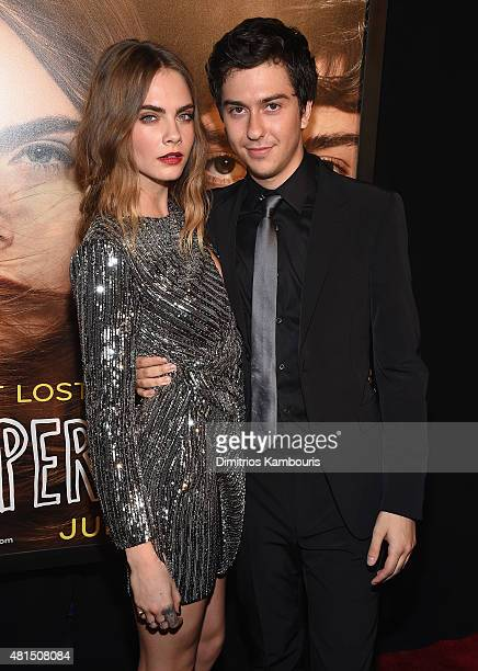 Actors Cara Delevingne and Nat Wolff attend the 'Paper Towns' New York Premiere at AMC Loews Lincoln Square on July 21 2015 in New York City