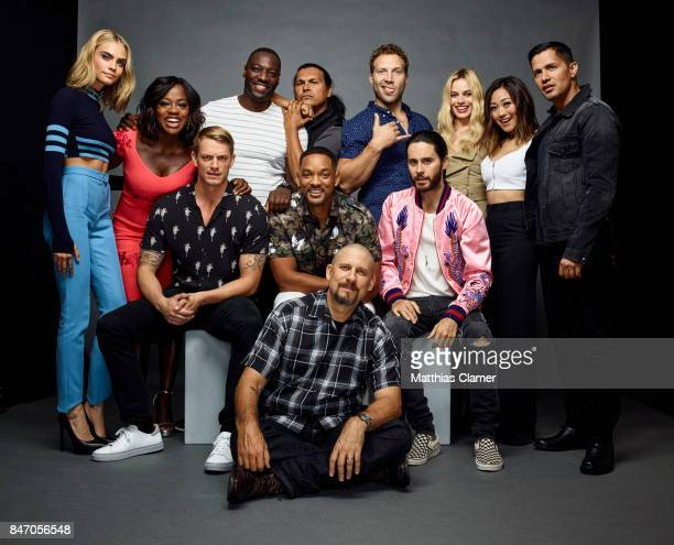 Actors Cara Delevingne Viola Davis Adewale AkinnuoyeAgbaje Adam Beach Jai Courtney Margot Robbie Karen Fukuhara Jay Hernandez Jared Leto Will Smith...