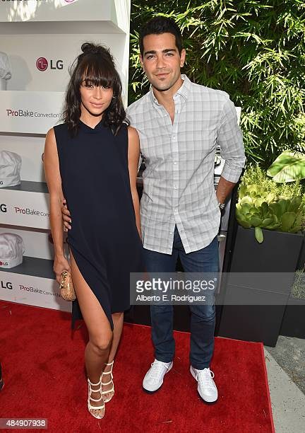 Actors Cara Santana and Jesse Metcalfe attend Eva Longoria and LG Electronics Host 'Fam To Table' Series at The Washbow on August 22 2015 in Culver...