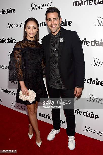 Actors Cara Santana and Jesse Metcalfe attend the 'Fresh Faces' party hosted by Marie Claire celebrating the May issue cover stars on April 11 2016...