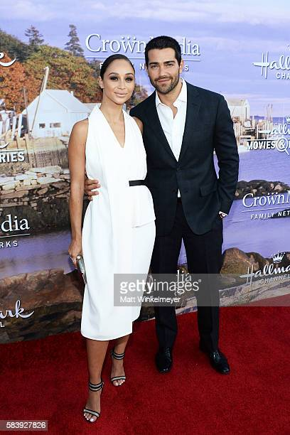 Actors Cara Santana and Jesse Metcalfe attend the Hallmark Channel and Hallmark Movies and Mysteries Summer 2016 TCA press tour event on July 27 2016...