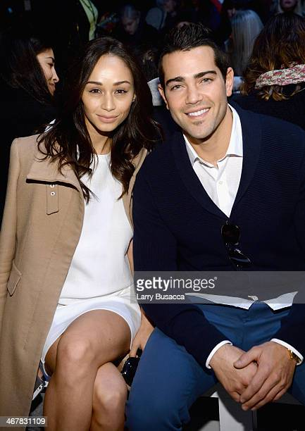Actors Cara Santana and Jesse Metcalfe attend the Lacoste fashion show during MercedesBenz Fashion Week Fall 2014 at The Theatre at Lincoln Center on...