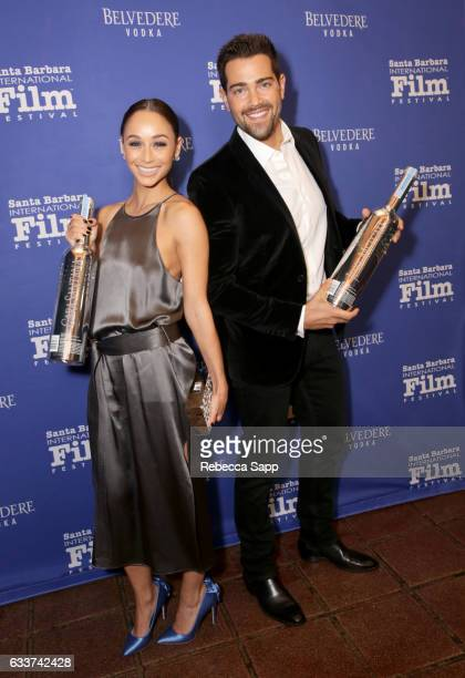 Actors Cara Santana and Jesse Metcalfe attend the Outstanding Performers Tribute honoring Ryan Gosling and Emma Stone during the 32nd Santa Barbara...