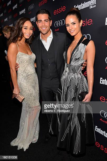 Actors Cara Santana Jesse Metcalfe and Nina Dobrev attend the Entertainment Weekly PreSAG Party hosted by Essie and Audi held at Chateau Marmont on...