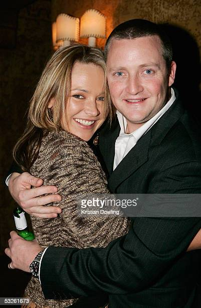 Actors Carla Bonner and Stephen Curry pose together at the Gala Opening Night Party as part of the opening of the Melbourne International Film...