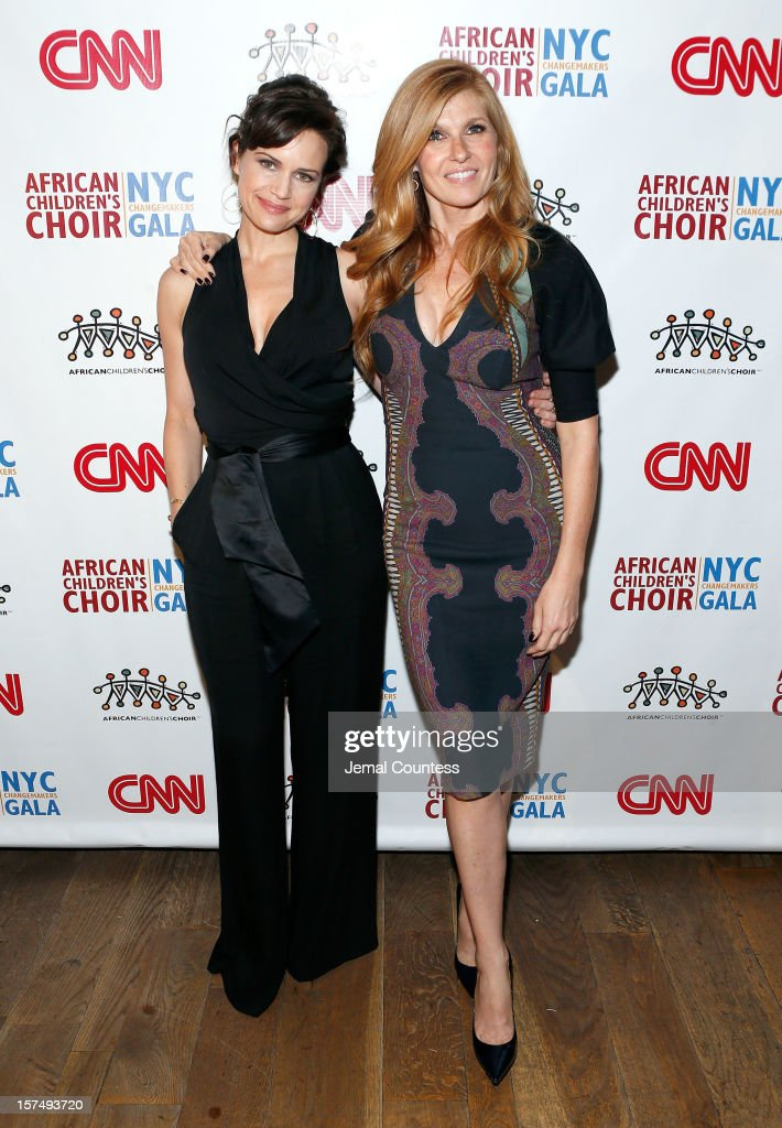 Actors Carla Guigino and <a gi-track='captionPersonalityLinkClicked' href=/galleries/search?phrase=Connie+Britton&family=editorial&specificpeople=234699 ng-click='$event.stopPropagation()'>Connie Britton</a> attend 4th Annual African Children's Choir Fundraising Gala at City Winery on December 3, 2012 in New York City.