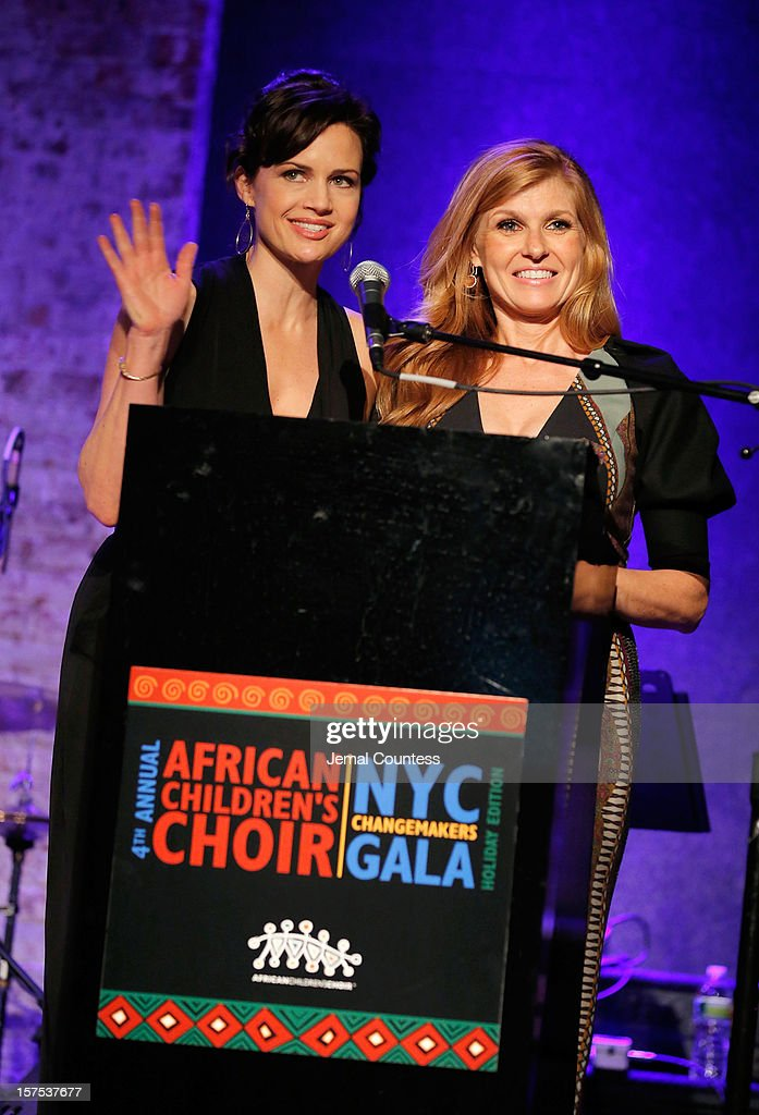 Actors Carla Guigino and <a gi-track='captionPersonalityLinkClicked' href=/galleries/search?phrase=Connie+Britton&family=editorial&specificpeople=234699 ng-click='$event.stopPropagation()'>Connie Britton</a> speak during the 4th Annual African Children's Choir Fundraising Gala at City Winery on December 3, 2012 in New York City.