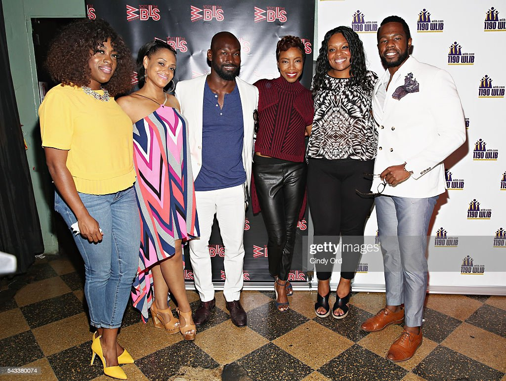 Actors Carla R. Stewart, <a gi-track='captionPersonalityLinkClicked' href=/galleries/search?phrase=Rema+Webb&family=editorial&specificpeople=6241067 ng-click='$event.stopPropagation()'>Rema Webb</a>, Isaiah Johnson, <a gi-track='captionPersonalityLinkClicked' href=/galleries/search?phrase=Heather+Headley&family=editorial&specificpeople=224680 ng-click='$event.stopPropagation()'>Heather Headley</a>, Carrie Compere and Akron Watson attend as WBLS 107.5 and 1190 WLIB celebrate Black Music Month with Broadway's 'The Color Purple' on June 27, 2016 in New York City.