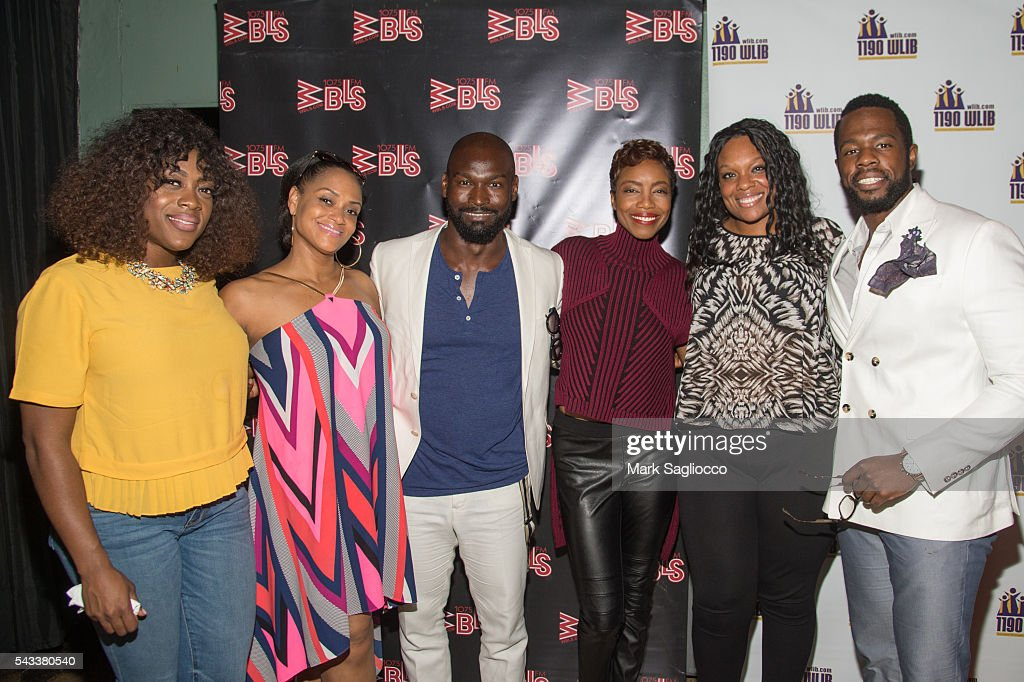 Actors Carla R. Stewart, <a gi-track='captionPersonalityLinkClicked' href=/galleries/search?phrase=Rema+Webb&family=editorial&specificpeople=6241067 ng-click='$event.stopPropagation()'>Rema Webb</a>, Isaiah Johnson, <a gi-track='captionPersonalityLinkClicked' href=/galleries/search?phrase=Heather+Headley&family=editorial&specificpeople=224680 ng-click='$event.stopPropagation()'>Heather Headley</a>, Carrie Compere and Akron Watson attend the WBLS 107.5 & 1190 WLIB Celebration of Black Music Month with Broadway's 'The Color Purple' on June 27, 2016 in New York City.