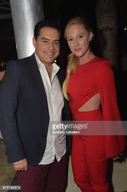Actors Carlos Gomez and Sheena Colette attends the Hialeah Series Premiere at the Milander Center for Arts and Entertainment on November 11 2017 in...