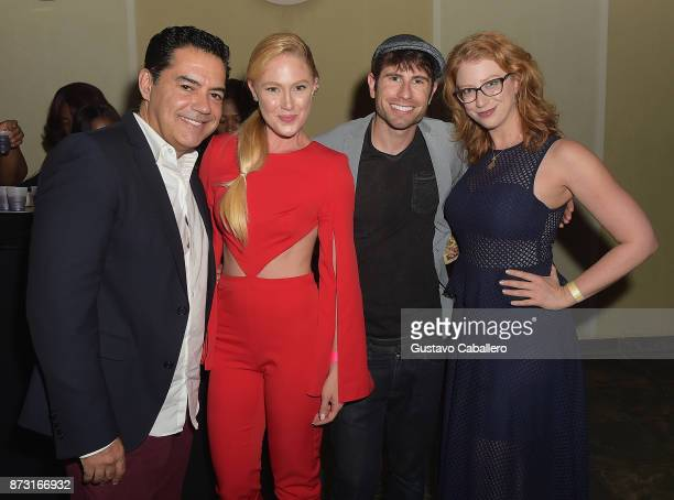 Actors Carlos GomezSheena Colette and Jordan Wall attends the Hialeah Series Premiere at the Milander Center for Arts and Entertainment on November...