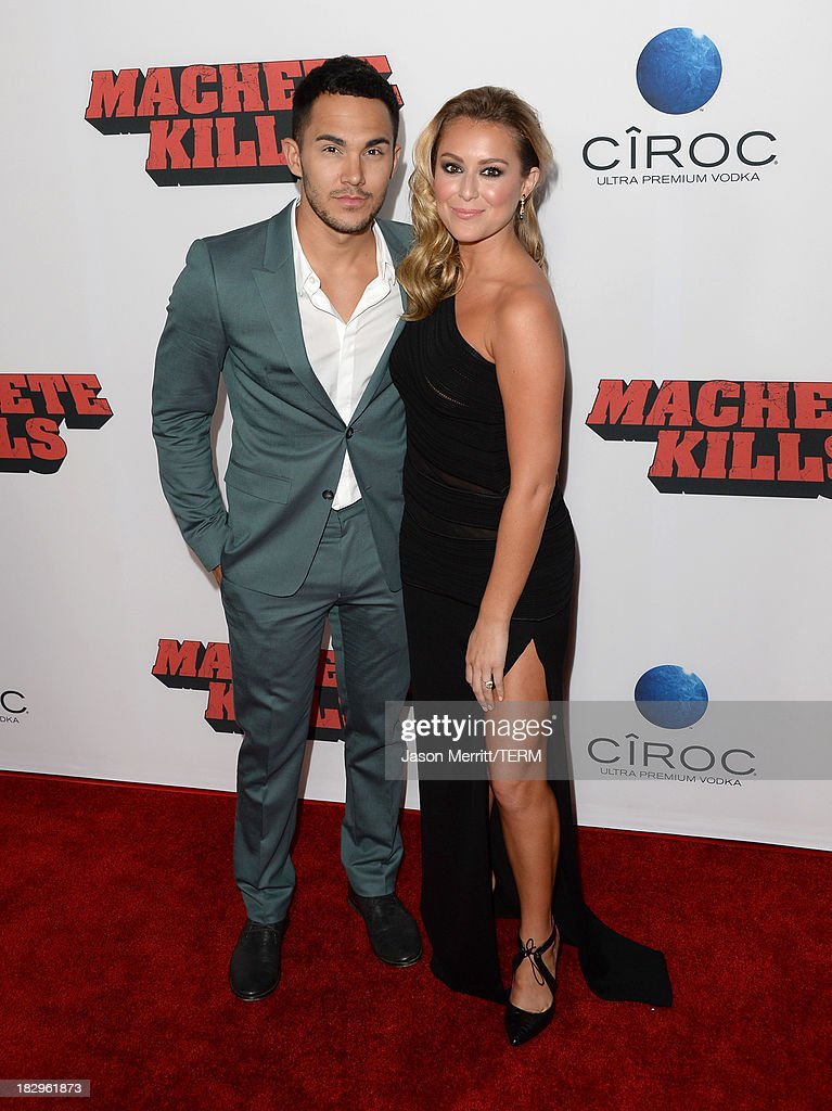 Actors Carlos Pena, Jr and Alexa Vega arrive at the premiere of Open Road Films' 'Machete Kills' at Regal Cinemas L.A. Live on October 2, 2013 in Los Angeles, California.