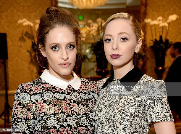 Actors Carly Chaikin and Portia Doubleday attend the 16th Annual AFI Awards at Four Seasons Hotel Los Angeles at Beverly Hills on January 8 2016 in...