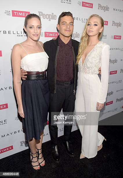 Actors Carly Chaikin Rami Malek and Portia Doubleday attend PEOPLE's Ones To Watch Event on September 16 2015 in West Hollywood California