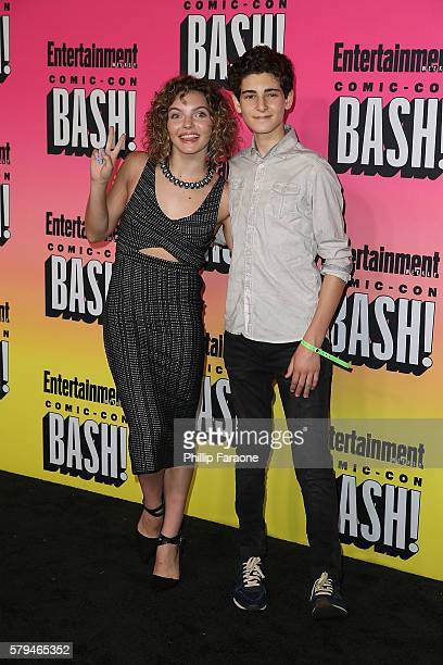 Actors Carmen Bicondova and David Mazouz attend Entertainment Weekly's Annual ComicCon Party 2016 at Float at Hard Rock Hotel San Diego on July 23...