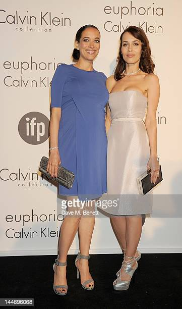 Actors Carmen Chaplin and Dolores Chaplin attend as The IFP Calvin Klein Collection euphoria Calvin Klein celebrate Women In Film during the 65th...