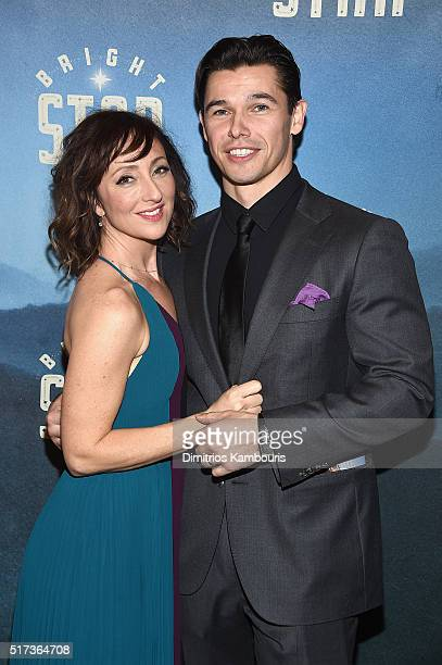 Actors Carmen Cusack and Paul Telfer attend the 'Bright Star' Opening Night on Broadway after party on March 24 2016 in New York City