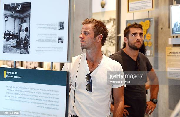Actors Carmine Giovinazzo and Jonathan Togo visit The Yad Vashem Museum on June 5 2012 in Jerusalem Israel