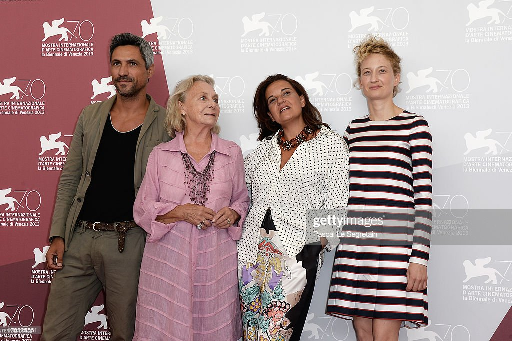 Actors Carmine Maringola, Elena Cotta, director Emma Dante and actress <a gi-track='captionPersonalityLinkClicked' href=/galleries/search?phrase=Alba+Rohrwacher&family=editorial&specificpeople=4296508 ng-click='$event.stopPropagation()'>Alba Rohrwacher</a> attend the 'Via Castellana Bandiera' Photocall during the 70th Venice International Film Festival on August 29, 2013 in Venice, Italy