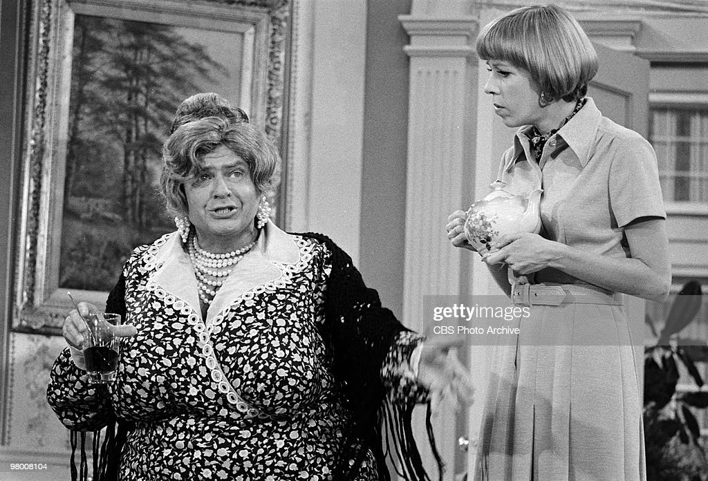 Actors Carol Burnett and Harvey Korman perform in a scene from 'The Carol Burnett Show' which was filmed on February 13 1973 in Los Angeles California