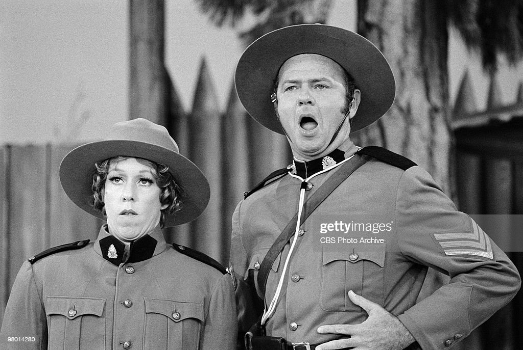 Actors Carol Burnett and Harvey Korman perform in a scene from 'The Carol Burnett Show' which was filmed on February 19 1971 in Los Angeles California