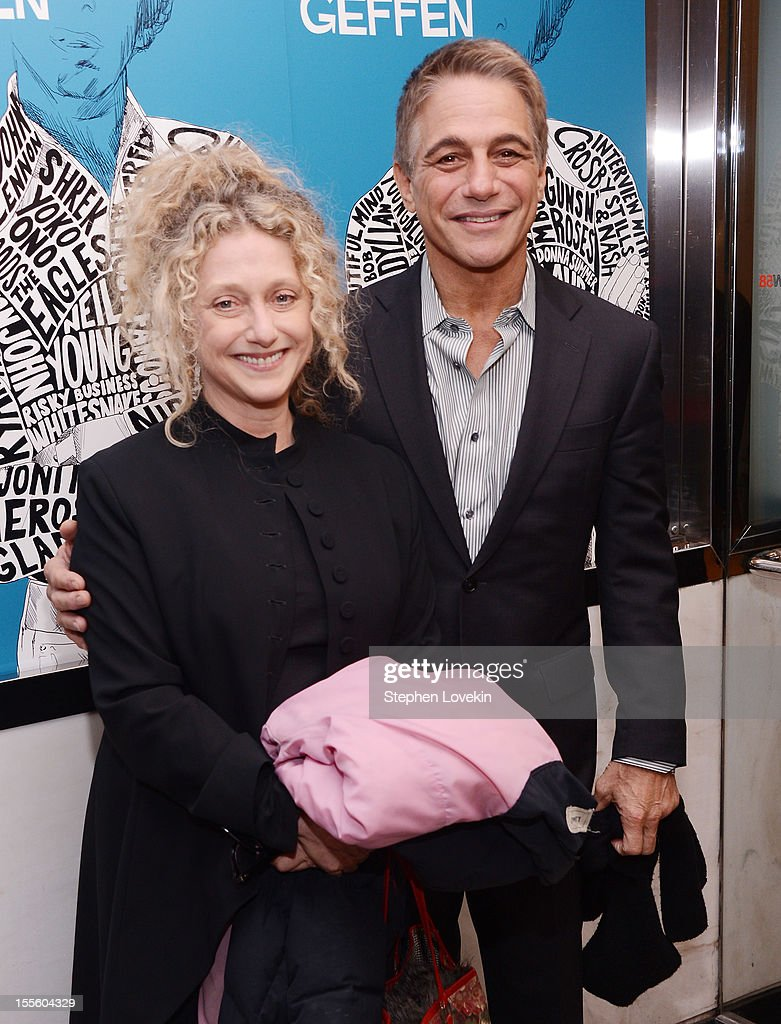 Actors <a gi-track='captionPersonalityLinkClicked' href=/galleries/search?phrase=Carol+Kane&family=editorial&specificpeople=215175 ng-click='$event.stopPropagation()'>Carol Kane</a> and <a gi-track='captionPersonalityLinkClicked' href=/galleries/search?phrase=Tony+Danza&family=editorial&specificpeople=203133 ng-click='$event.stopPropagation()'>Tony Danza</a> attend the 'Inventing David Geffen' New York Premiere at Paris Theater on November 5, 2012 in New York City.