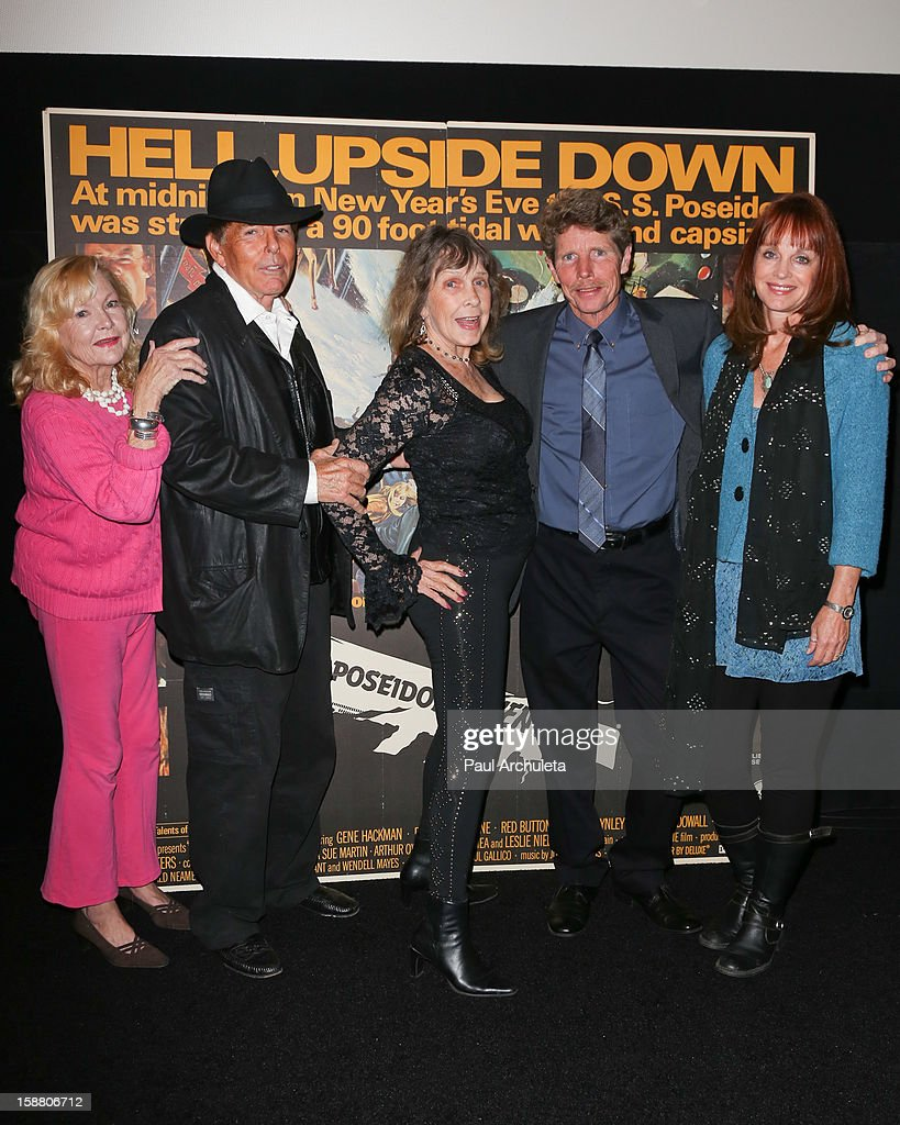 Actors Carol Lynley, Ernie Orsatt, Stella Stevens, Eric Shea and Pamela Sue Martin attends the screening for the 40th Anniversary of 'The Poseidon Adventure' at the American Cinematheque's Egyptian Theatre on December 29, 2012 in Hollywood, California.