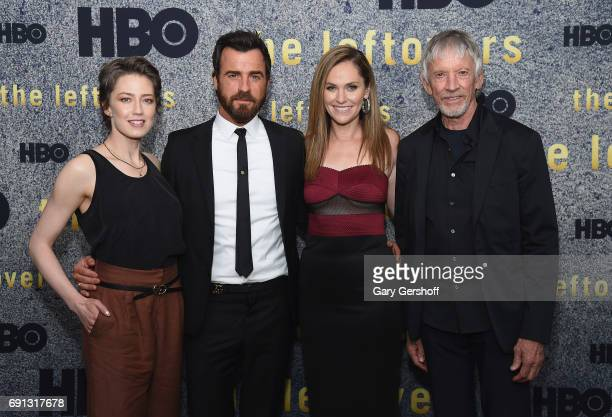 Actors Carrie Coon Justin Theroux Amy Brenneman and Scott Glenn attend 'The Leftovers' screening at Metrograph on June 1 2017 in New York City
