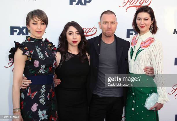 Actors Carrie Coon Olivia Sandoval Ewan McGregor and Mary Elizabeth Winstead attend FX's 'Fargo' For Your Consideration event at Saban Media Center...