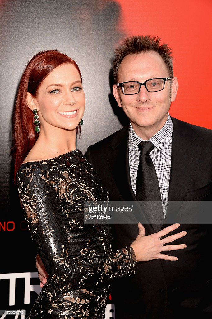 Actors Carrie Preston (L) and Michael Emerson attend HBO's 'True Blood' season 6 premiere at ArcLight Cinemas Cinerama Dome on June 11, 2013 in Hollywood, California.