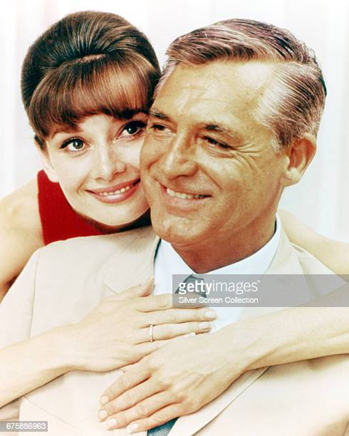 Actors Cary Grant as Peter Joshua and Audrey Hepburn as Regina Lampert in a publicity still for the film 'Charade' 1963